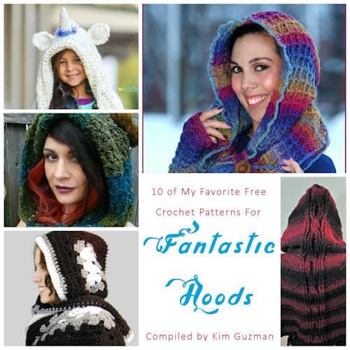 Link Blast 10 Free Crochet Patterns For Fantastic Hoods Crochetkim