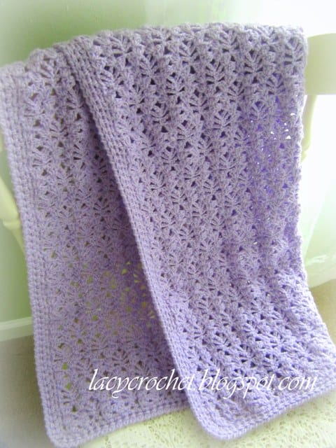 Free Crochet Pattern: Lacy Stitch Newborn Blanket