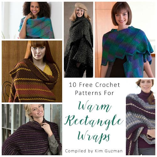 Link Blast Free Crochet Patterns For Warm Rectangle Wraps Crochetkim