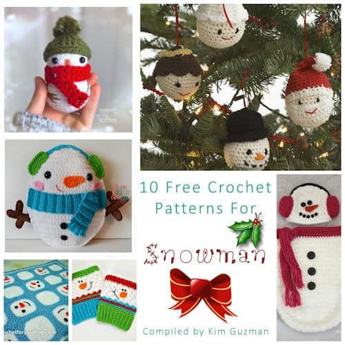 Link Blast: 10 Free Crochet Patterns for Snowman