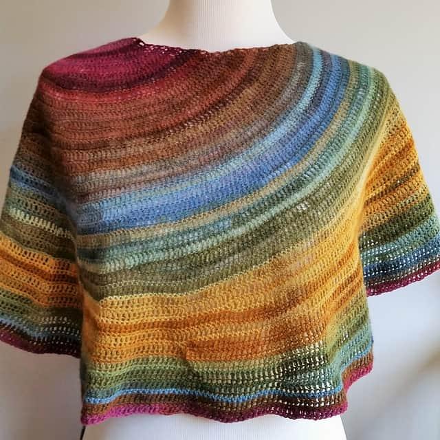 Free Crochet Pattern: Spill Shawl
