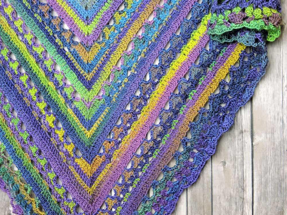 Virus Shawl Virus Stitch Virus Blanket Free Crochet Pattern
