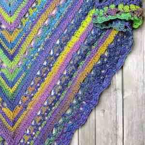 Unforgettable Lunar Crossings Shawl Free Crochet Pattern
