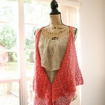 Clamshell Lace Waterfall Vest