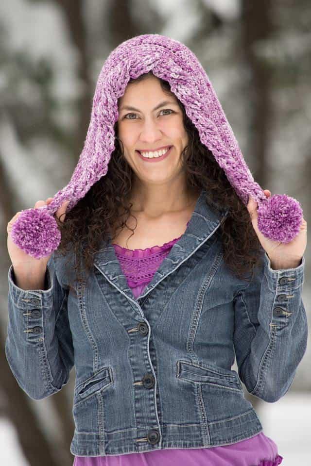 CrochetKim Free Crochet Pattern | Snow Drifts Pixie Hood @crochetkim