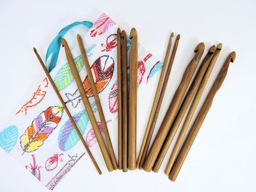 Make It Crochet Prize Entry: 12-Piece Bamboo Crochet Hook Set and Hand-Crafted Pouch