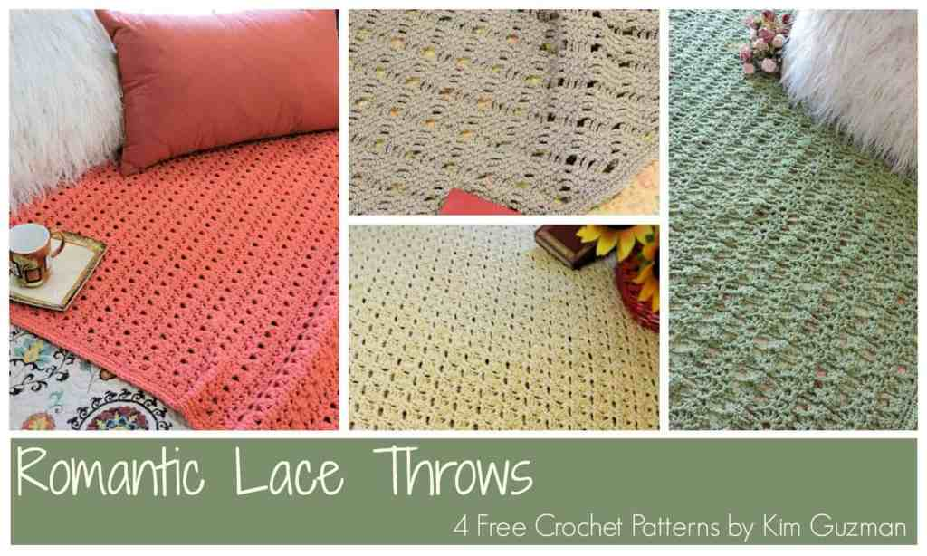 CrochetKim Free Crochet Pattern | Romantic Lace Throws @crochetkim