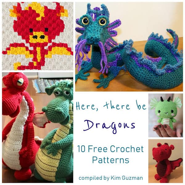 Link Blast 10 Free Crochet Patterns For Dragons Crochetkim