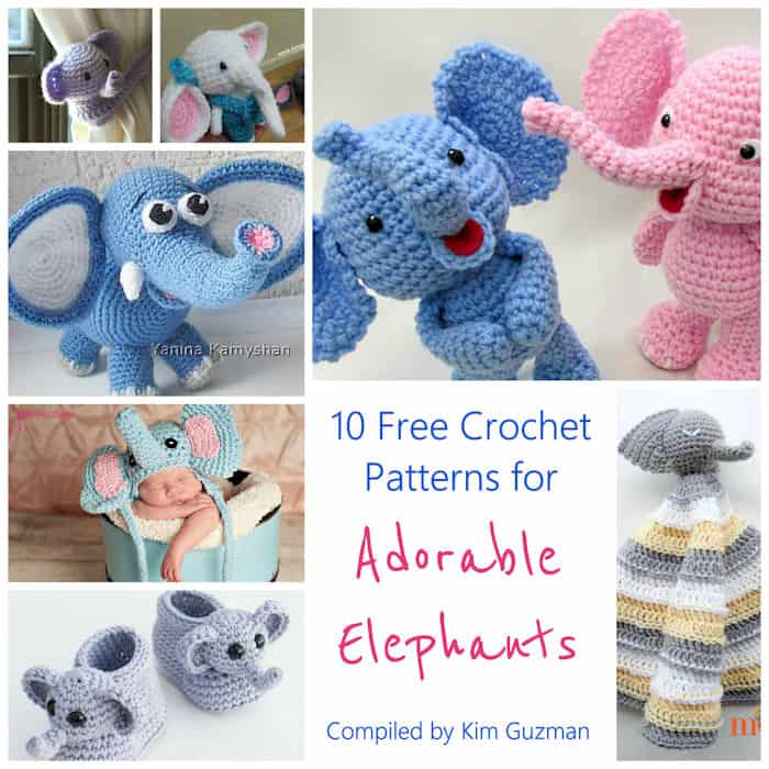 Link Blast: 10 Free Crochet Patterns for Elephants