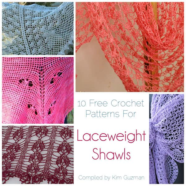 Link Blast 10 Free Crochet Patterns For Laceweight Shawls Crochetkim