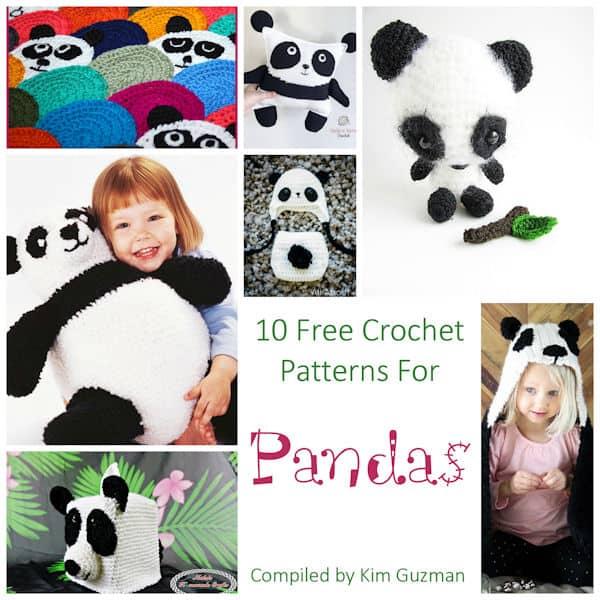 Link Blast: 10 Free Crochet Patterns for Pandas