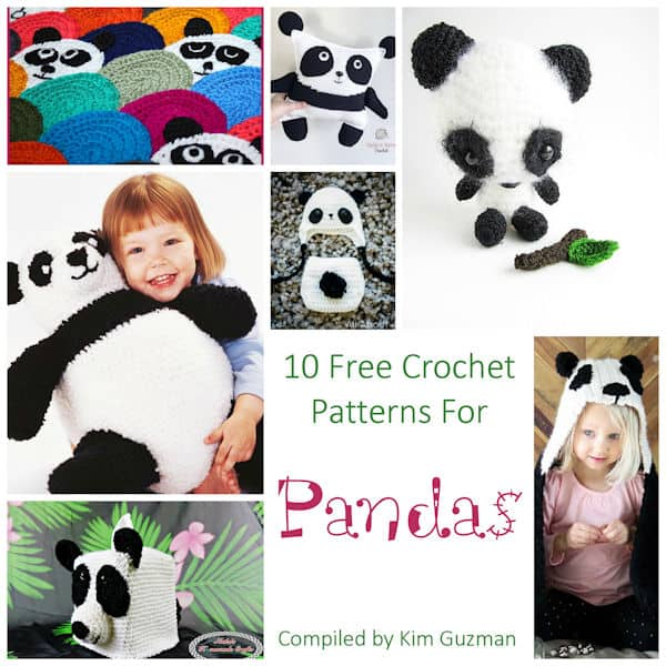 Link Blast: 10 Free Crochet Patterns for Pandas | CrochetKim™