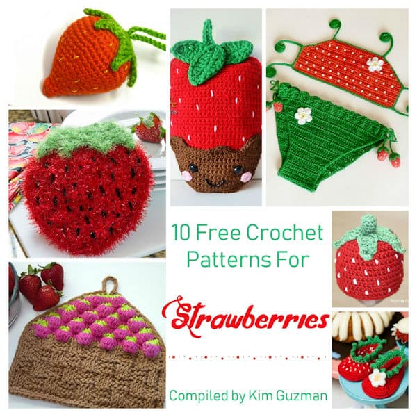 Link Blast: 10 Free Crochet Patterns for Strawberries