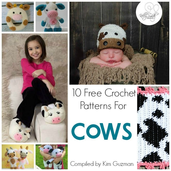 Link Blast 10 Free Crochet Patterns For Cows Crochetkim