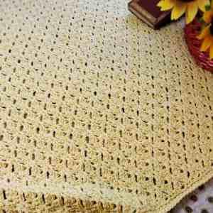 Graceful Shells Throw CrochetKim Free Crochet Pattern
