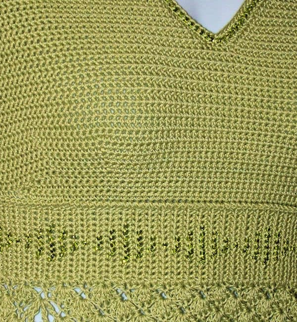 Sonrisa Empire Waist Top | CrochetKim Free Crochet Pattern