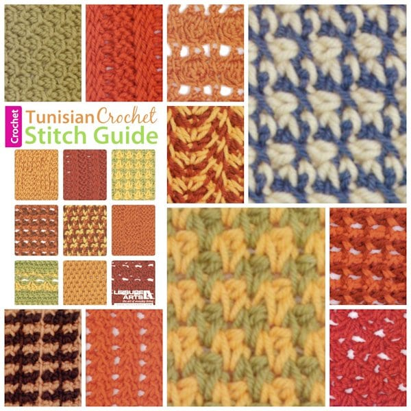 Tunisian Crochet Stitch Guide by Kim Guzman