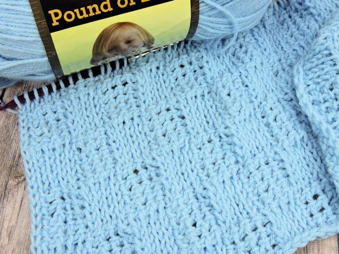 Bluebell Baby Blanket: CrochetKim Free Tunisian Crochet Pattern