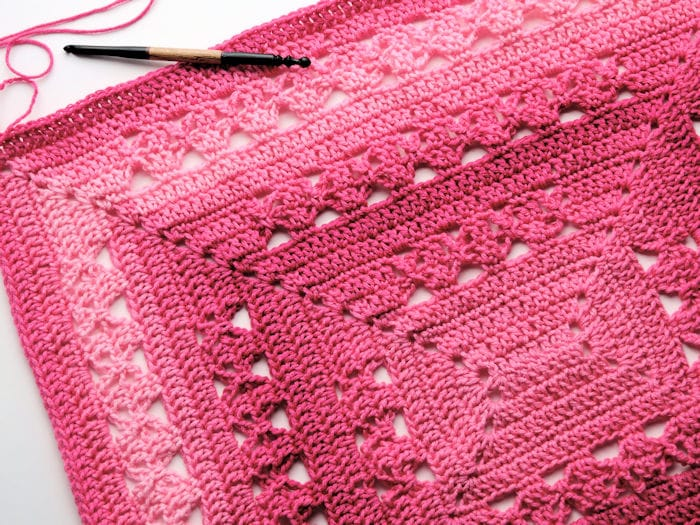 Lunar Crossings Rectangle Blanket Free Crochet Pattern Crochetkim