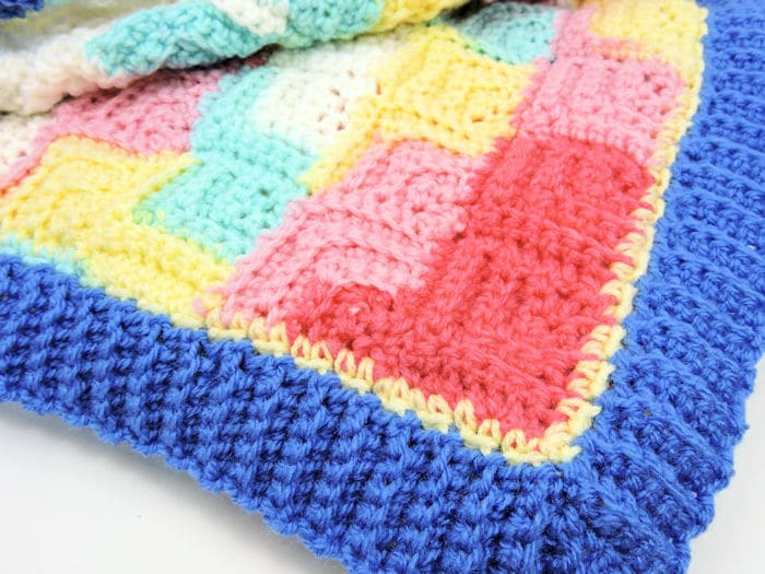 Patchwork Baby Blanket | CrochetKim Free Crochet Pattern