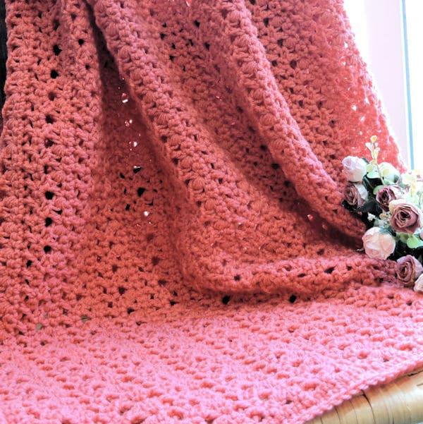 Peony Passion Throw | CrochetKim Free Crochet Pattern