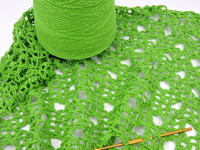 Rings Fling Wrap Shawl CrochetKim Free Crochet Pattern