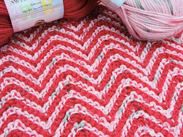 Ripple Candy Baby Afghan | CrochetKim Free Tunisian Crochet Pattern