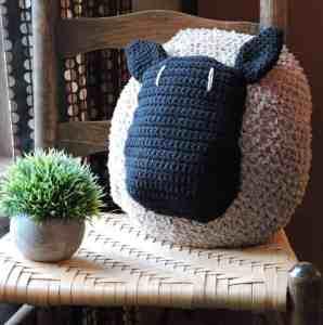 Love My Sheep Pillow CrochetKim Free Crochet Pattern