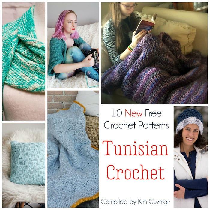 Link Blast: 10 New Free Crochet Patterns in Tunisian Crochet