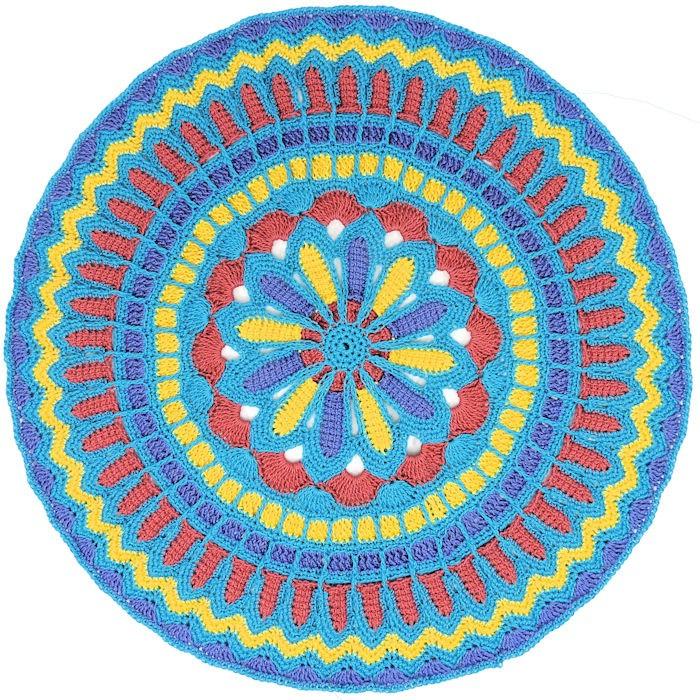 Turquoise Circle Mandala | CrochetKim Free Crochet Pattern