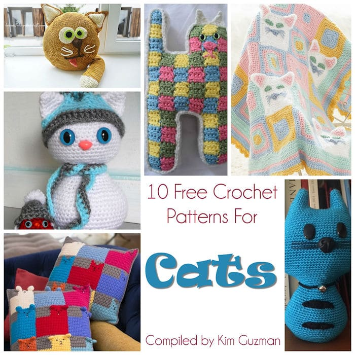 Link Blast 10 Free Crochet Patterns For Cats Crochetkim