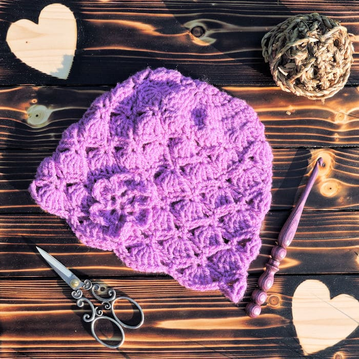 Dakota Belle Beanie Free Crochet Pattern 4 Sizes