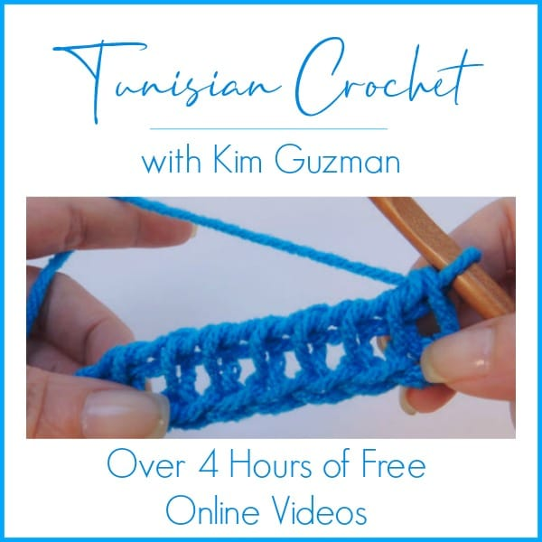 Tunisian Crochet: It's Time to Learn with Over 4 Hours of Online Videos with Kim Guzman!