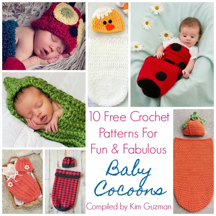 Link Blast 10 Free Crochet Patterns For Baby Cocoons Swaddle Sacks