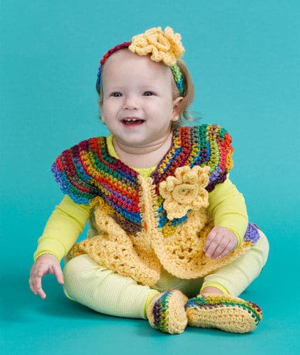Fall Baby Sweater Set CrochetKim Free Crochet Pattern