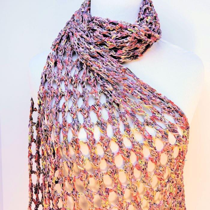 Tandem Fling Wrap | CrochetKim Free Crochet Pattern