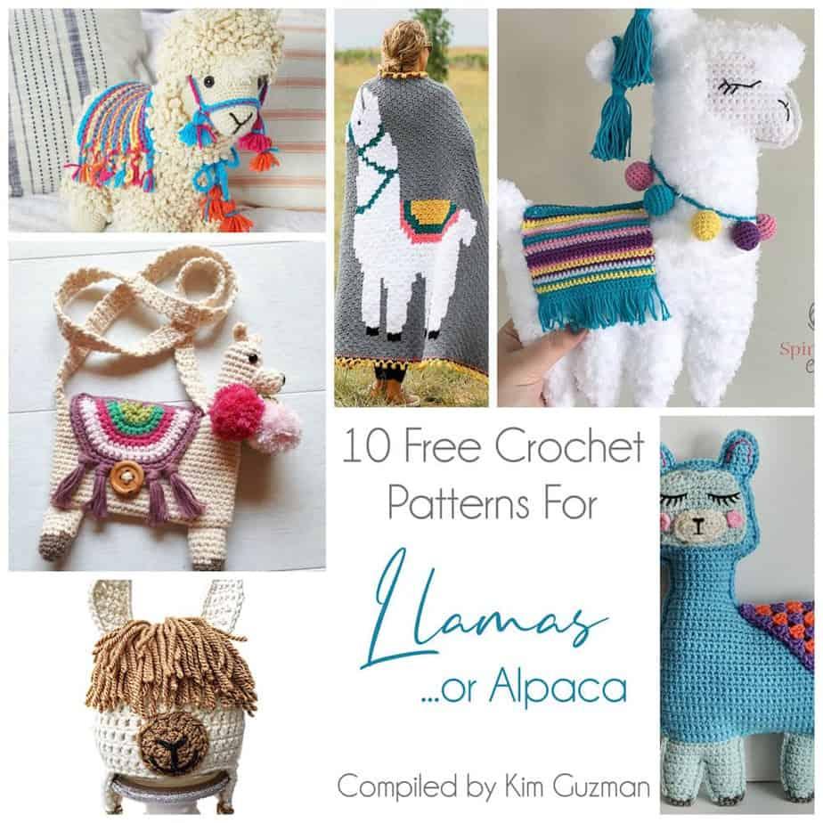 Link Blast: 10 Free Crochet Patterns for Llamas (or Alpaca