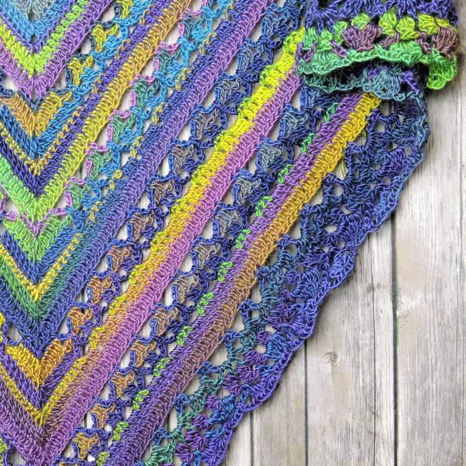 Unforgettable Lunar Crossing Shawl | CrochetKim Free Crochet Pattern
