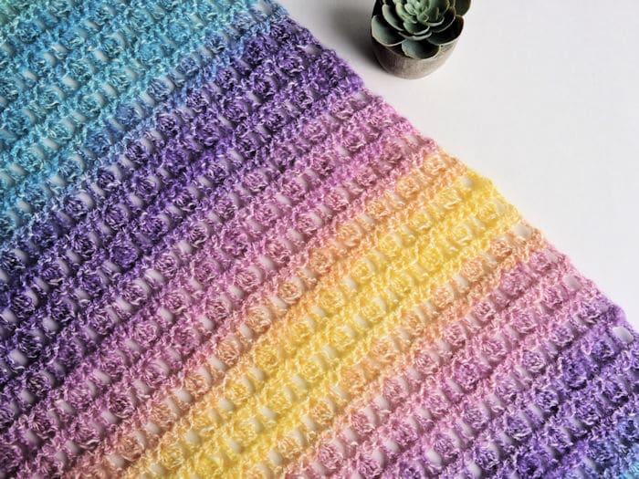 Unicorns in the Mist Shawl | CrochetKim Free Crochet Pattern