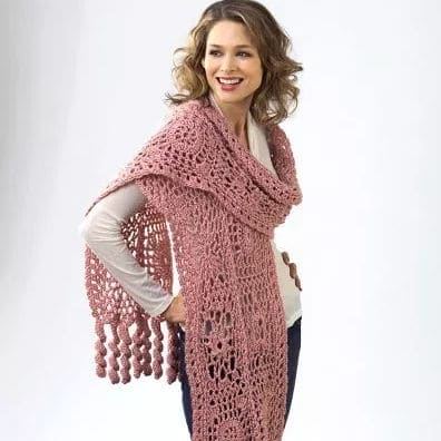 Flower Motif Scarf CrochetKim Free Crochet Pattern