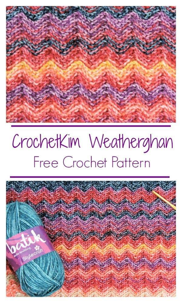 CrochetKim Birth Temperature Blanket Weatherghan Free Crochet Pattern