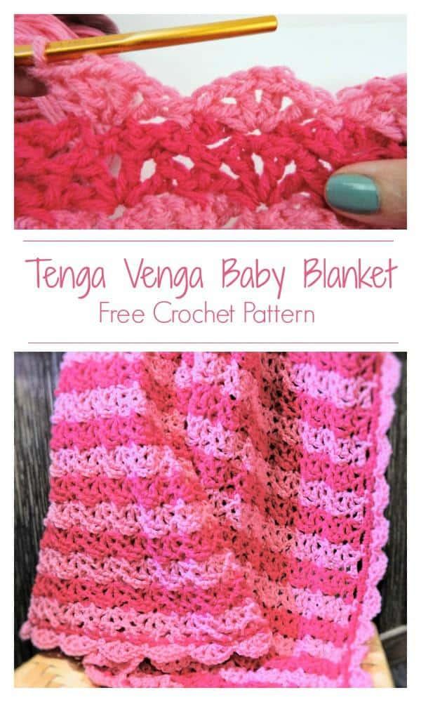 CrochetKim Free Crochet Pattern | Tenga Venga Baby Blanket @crochetkim