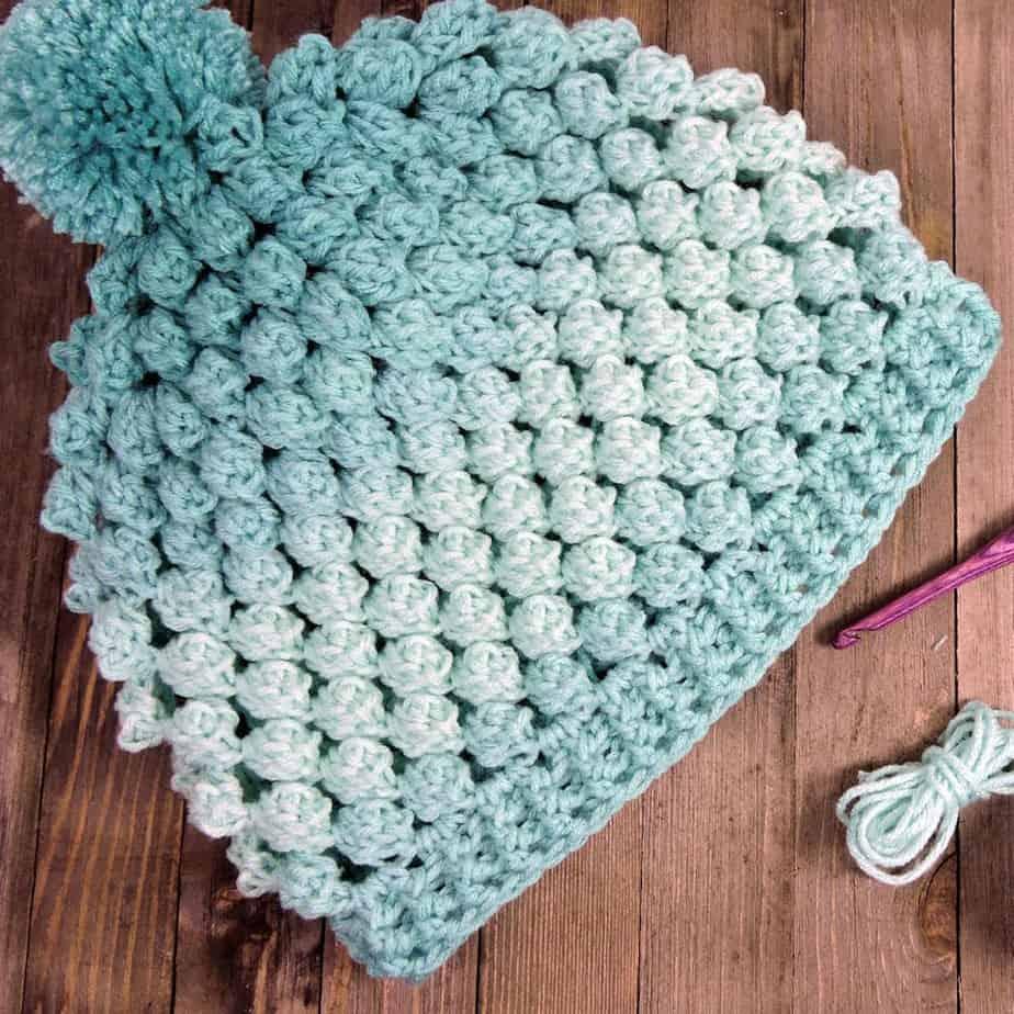 Ombre Pop Beanie Free Crochet Pattern