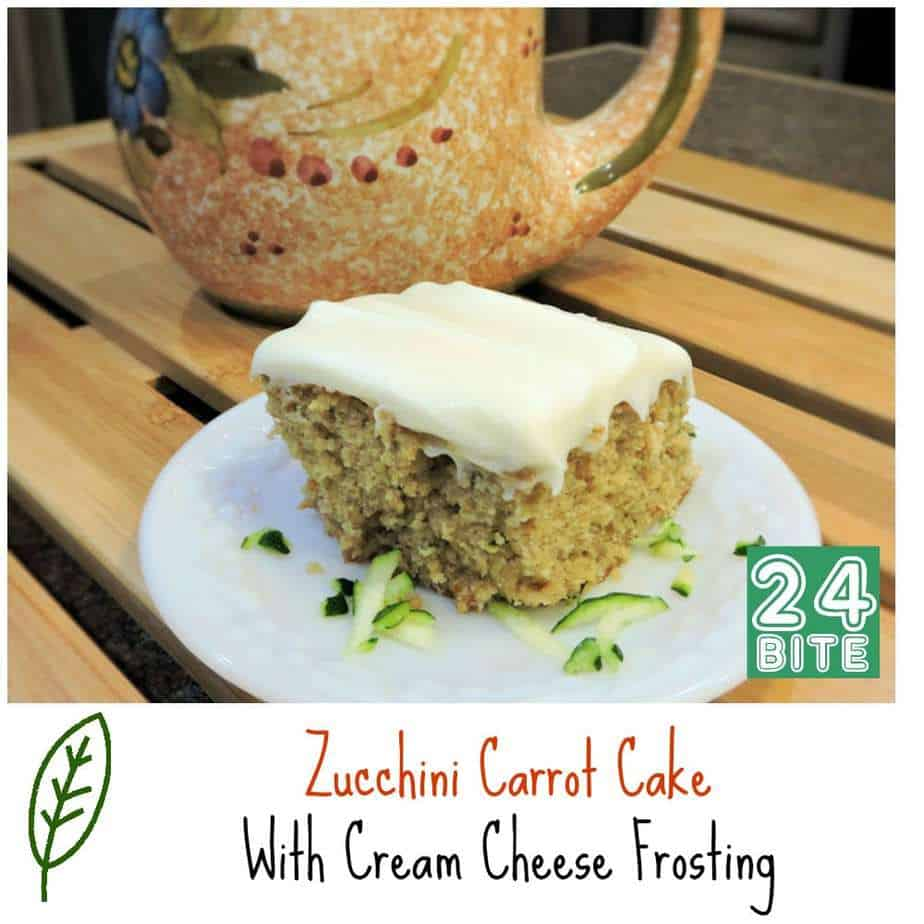 24 Bite Recipe: Zucchini Carrot Cake with Cream Cheese Frosting