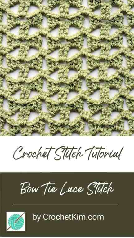 Bow Tie Lace Free CrochetKim Crochet Stitch Tutorial