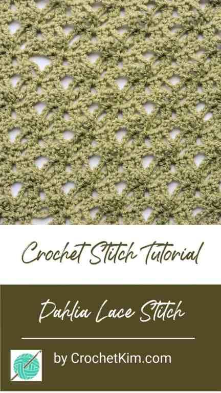 Dahlia Lace CrochetKim Free Crochet Stitch Tutorial
