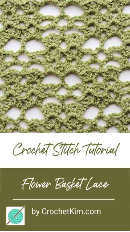Flower Basket Lace CrochetKim Free Crochet Stitch Tutorial