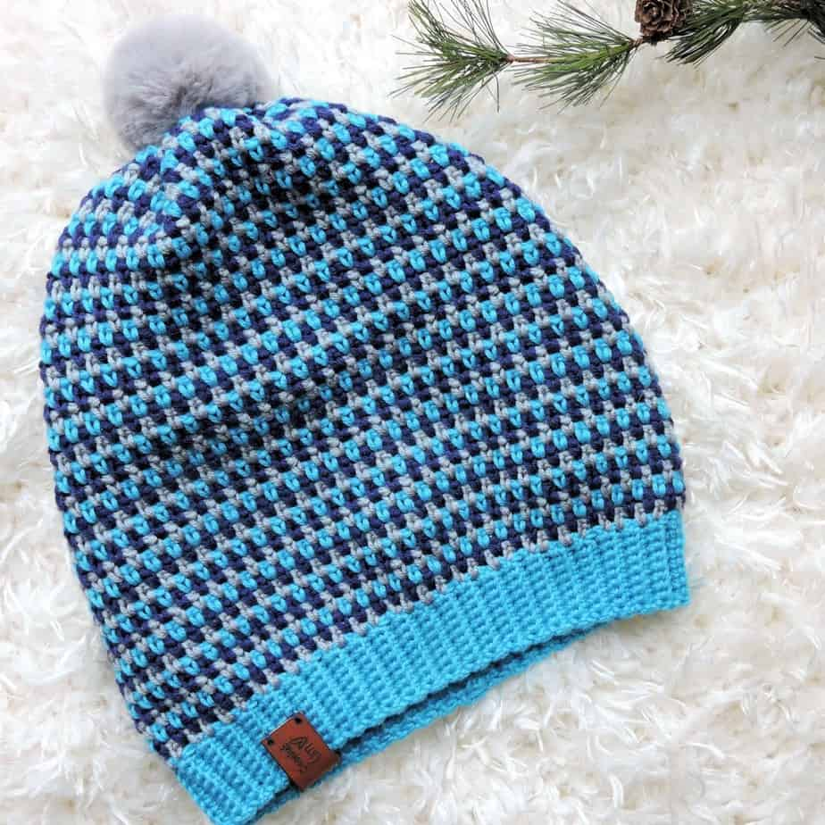 Mesmeric Dots Beanie Free Crochet Pattern