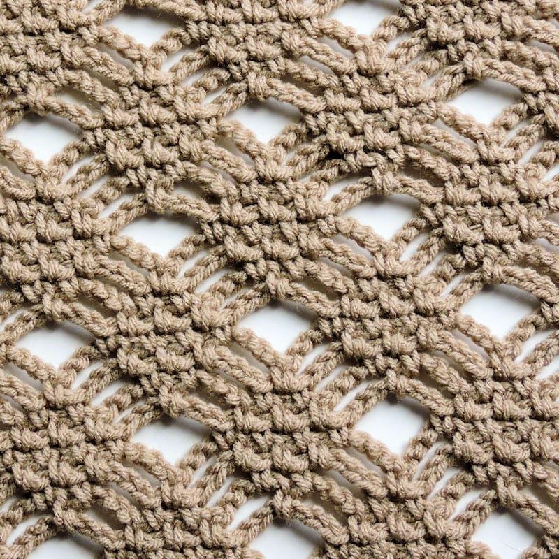 Moss Stitch Diamond Lace CrochetKim Free Crochet Stitch Tutorial