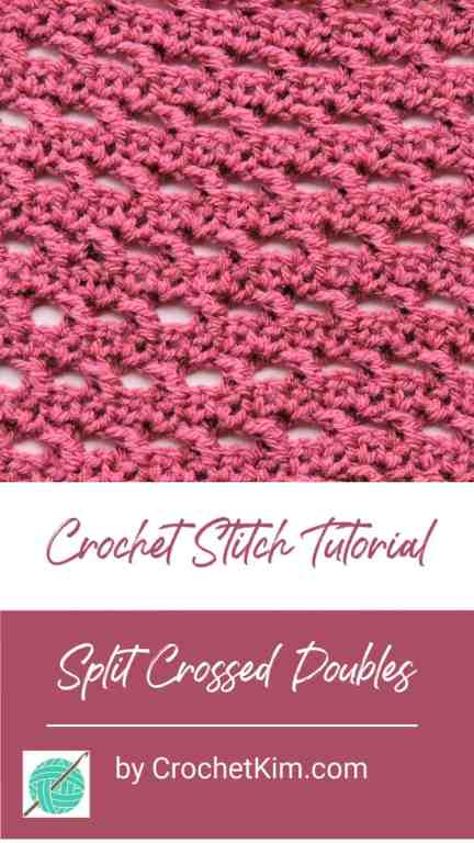 Split Crossed Doubles Free Crochet Stitch Tutorial